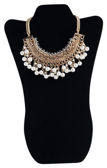 Preload https://item2.tradesy.com/images/gold-tone-white-and-clear-synthetic-stone-shalimar-by-necklace-21567486-0-2.jpg?width=440&height=440