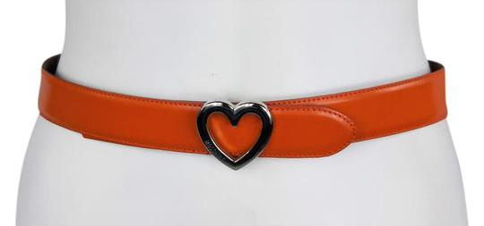 Preload https://item4.tradesy.com/images/moschino-orange-42-285-30-leather-w-silver-heart-buckle-belt-21567618-0-2.jpg?width=440&height=440