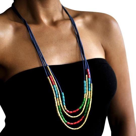 Preload https://item2.tradesy.com/images/multicolors-aloha-tribal-necklace-21567626-0-2.jpg?width=440&height=440