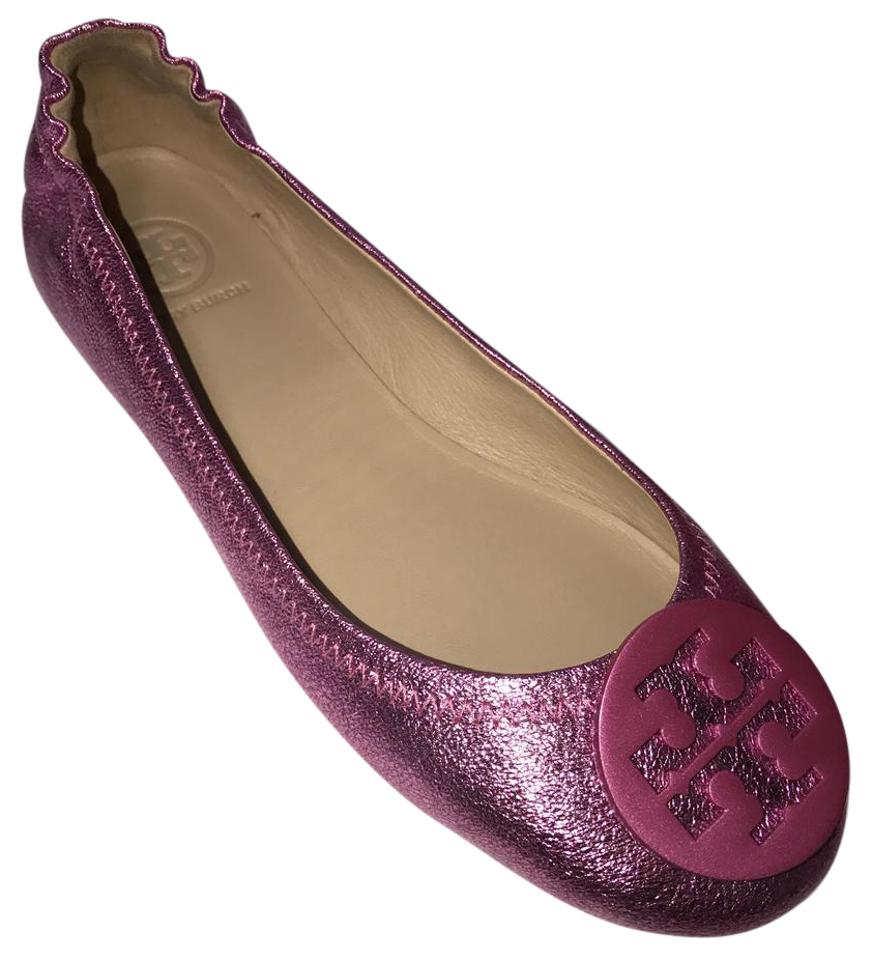 294ad410593 Tory Burch Pink Bougainville Flats Size US 6.5 Regular (M