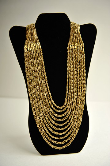 Hand Made Handmade Gold tone Brass Necklace