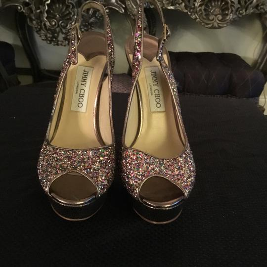 Jimmy Choo multi color Pumps