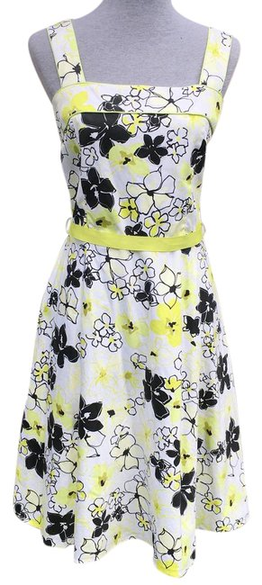Preload https://item1.tradesy.com/images/scarlett-white-black-lime-green-floral-a-mid-length-short-casual-dress-size-14-l-21567820-0-2.jpg?width=400&height=650