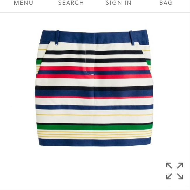J. Crew Mini Multi Stripe Skirt Mini Skirt blue multi striped