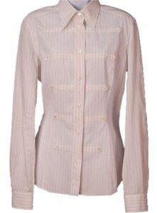 Dolce&Gabbana Stripe Cotton Button Down Shirt White