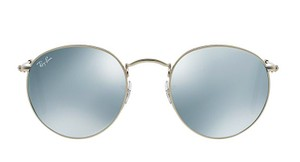 """Ray-Ban Ray Ban Rounded Silver Mirror - RB 3447 019/30 """"FREE 3 DAY SHIPPING"""""""