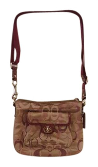 Preload https://item1.tradesy.com/images/coach-signature-tan-and-pink-leather-canvas-cross-body-bag-21567870-0-2.jpg?width=440&height=440