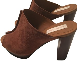 See by Chloé Boho Suede Chestnut Brown Mules