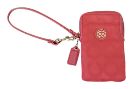 Preload https://item3.tradesy.com/images/coach-signature-red-wristlet-21567912-0-2.jpg?width=440&height=440