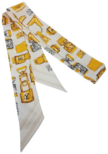 Preload https://item3.tradesy.com/images/louis-vuitton-gold-white-yellow-multicolor-full-of-locks-baby-silk-bandeau-scarfwrap-21567922-0-4.jpg?width=440&height=440
