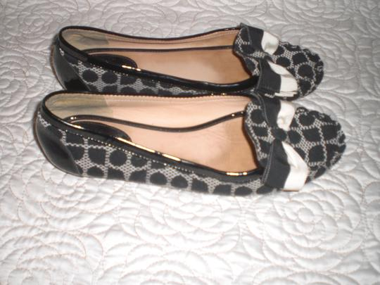 Kate Spade Ivory and Black Flats