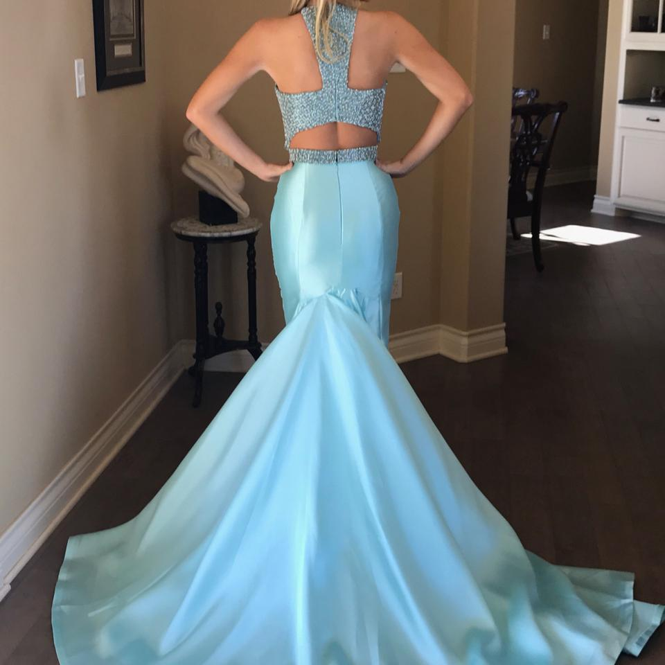 Jovani Blue One Of A Kind Long Formal Dress Size 6 (S) - Tradesy