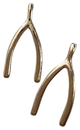 Other jumbo wishbone stud earrings