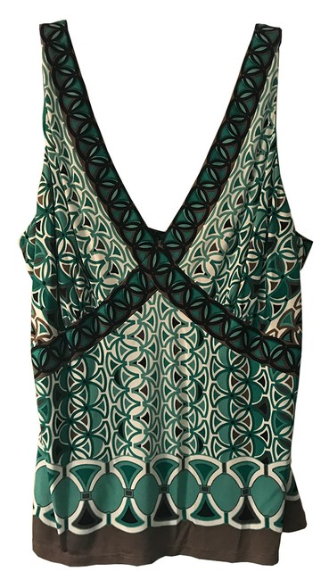 Elie Tahari Top Green and black