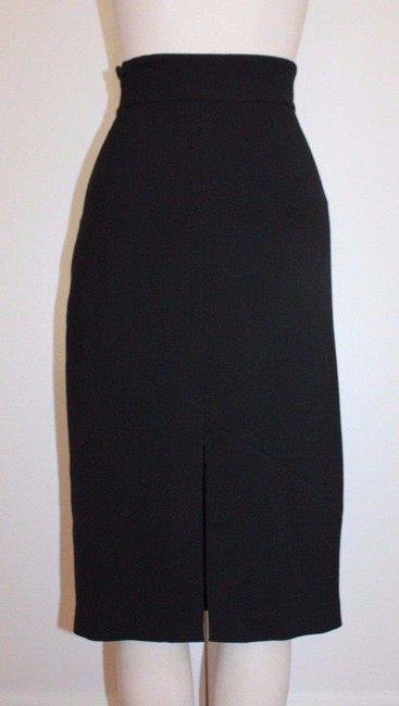 Tracy Reese Wool Pencil Skirt BLACK