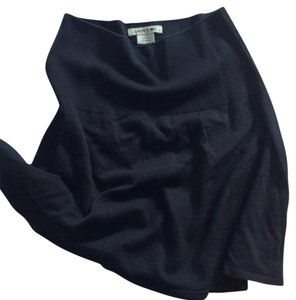 Lacoste A-line Pique Wool Sporty Fall Mini Skirt Navy
