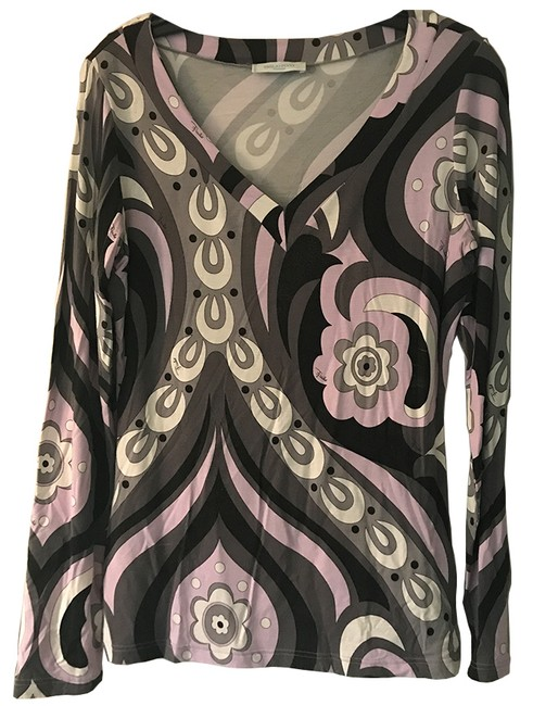 Preload https://item1.tradesy.com/images/emilio-pucci-lavender-gray-black-blouse-size-12-l-21568170-0-0.jpg?width=400&height=650