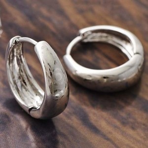 Etched White Gold Filled Hoop Earrings Free Shipping