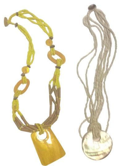 Preload https://item4.tradesy.com/images/yellows-mustard-grey-necklace-21568238-0-1.jpg?width=440&height=440