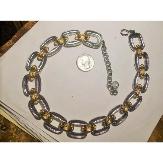 Givenchy Givenchy Thick Gold/ SilverTone Square Necklace