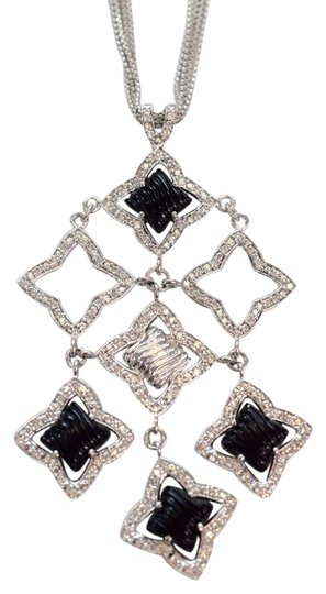 Preload https://img-static.tradesy.com/item/21568351/david-yurman-18k-white-gold-onyx-and-diamond-quatrefoil-necklace-0-1-540-540.jpg