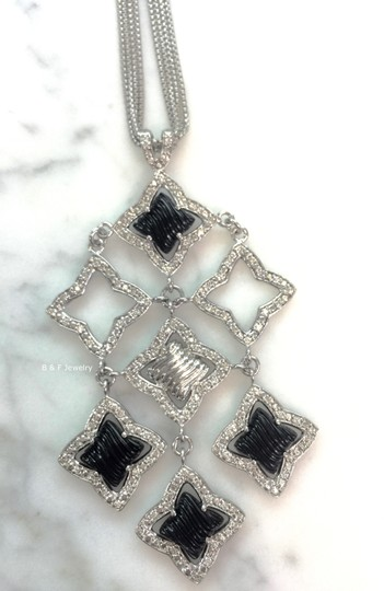David Yurman David Yurman 18K White Gold Onyx And Diamond