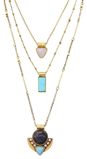 Preload https://item1.tradesy.com/images/chloe-isabel-turquoise-three-row-convertible-necklace-21568415-0-1.jpg?width=440&height=440