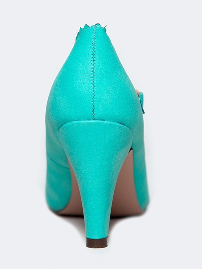 J. Adams Low Heel Round Pumps Starppy Mint Sandals