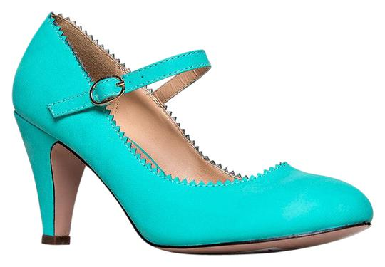 J. Adams Low Heel Round Pumps Strappy Mint Sandals