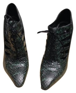 Bottega Veneta Python Bootie Leather Vintage Green Boots