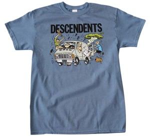 Descendants The Treasured Hippie Music Boho Band Memorabilia T Shirt Blue