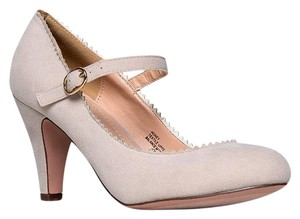 J. Adams Low Heel Round Pumps Strappy Nude Suede Sandals