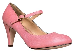 J. Adams Low Heel Round Pumps Strappy Pink Sandals