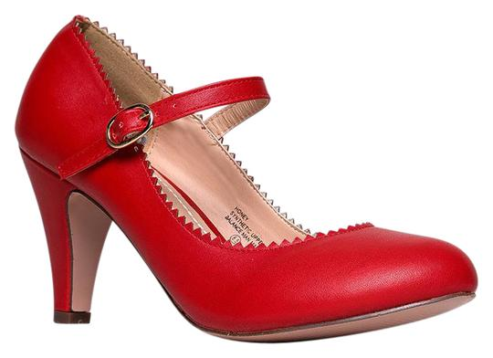 Preload https://item1.tradesy.com/images/j-adams-red-pu-honey-low-heel-mary-jane-sandals-size-us-7-regular-m-b-21568715-0-1.jpg?width=440&height=440