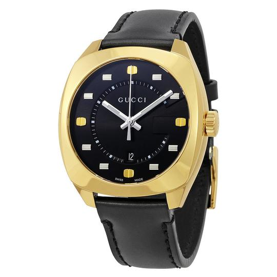 Preload https://img-static.tradesy.com/item/21568719/gucci-black-dial-leather-strap-yellow-gold-tone-men-s-swiss-watch-0-0-540-540.jpg