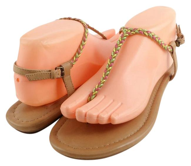 Item - Tan Leanna Leather Designer Sandals Size US 6.5 Regular (M, B)