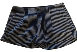Joie Cuffed Shorts blue and white