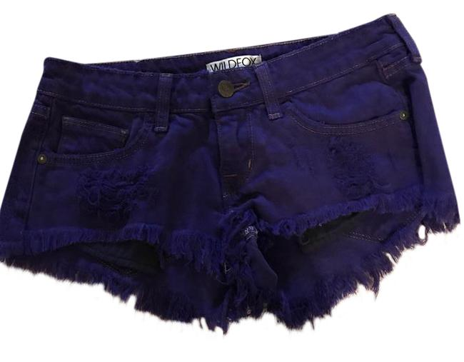 Preload https://item1.tradesy.com/images/wildfox-purple-cut-off-shorts-size-0-xs-25-21568950-0-1.jpg?width=400&height=650