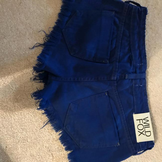 Wildfox Cut Off Shorts royal blue