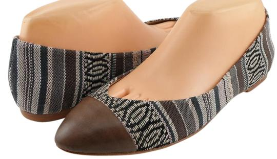 Ella Moss Leather Captoe Fabris Comfort Multi-color Flats