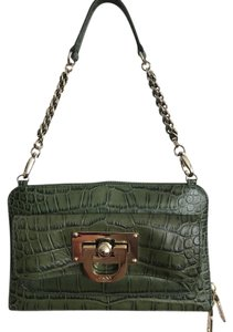 DKNY Evening Croc Embossed Clutch Shoulder Bag