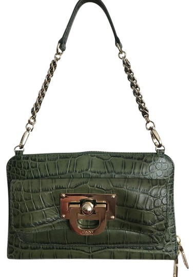 Preload https://item1.tradesy.com/images/dkny-croc-embossed-clutchshoulder-green-leather-shoulder-bag-21569110-0-1.jpg?width=440&height=440