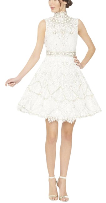 Item - White New Lilian Embellished Lace Gown Short Formal Dress Size 10 (M)