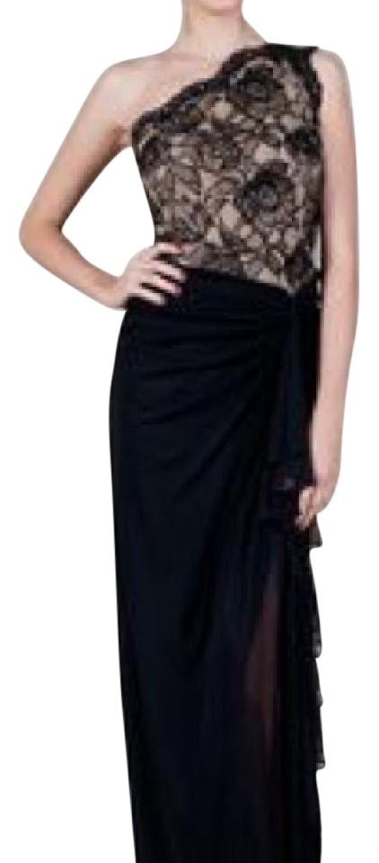 Tadashi Shoji One Shoulder Long Formal Dress Size 2 Xs Tradesy