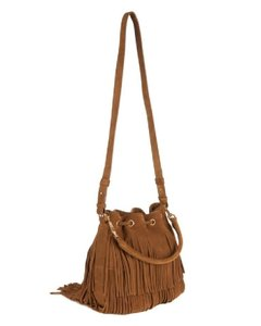 Saint Laurent Fringe Suede Fringed Festival Boho Cross Body Bag