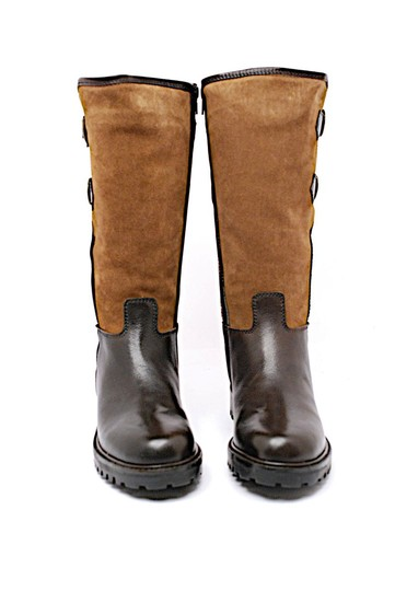 Exdeter Shearling Buckles Brown Boots