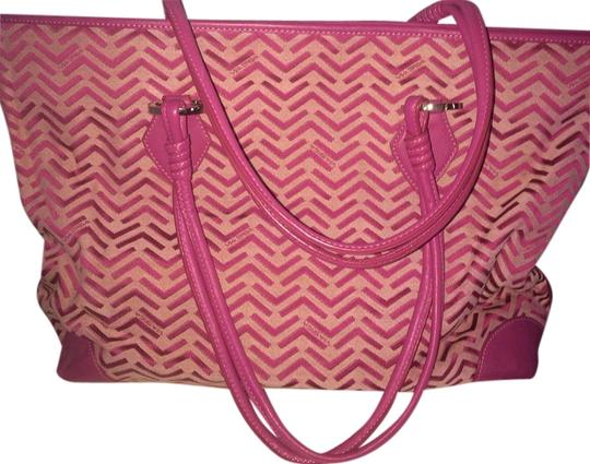 Preload https://item1.tradesy.com/images/via-spiga-large-pink-plum-leather-and-fabric-tote-2156930-0-0.jpg?width=440&height=440