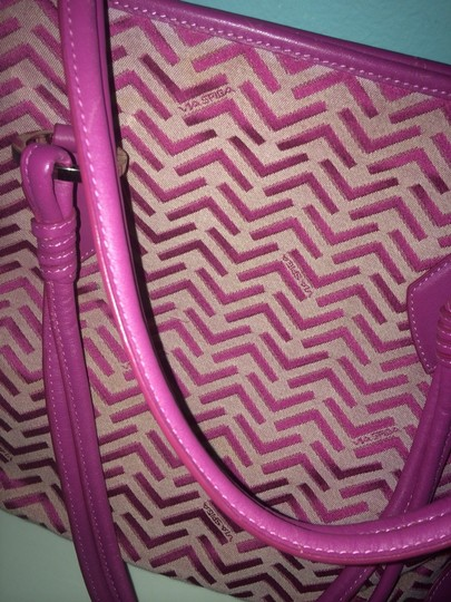 Via Spiga Tote in Pink Plum Image 1