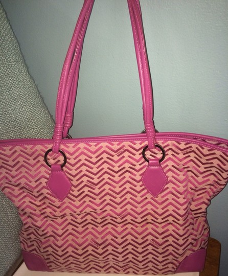 Via Spiga Tote in Pink Plum Image 5