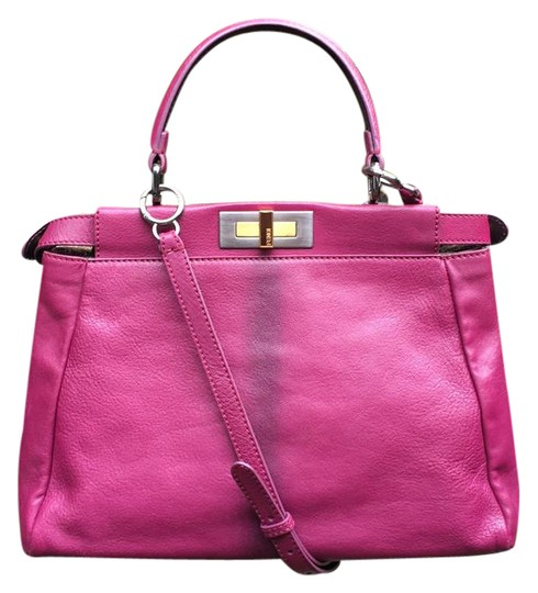 Preload https://item2.tradesy.com/images/fendi-medium-peekaboo-pink-ombre-leather-satchel-21569396-0-1.jpg?width=440&height=440